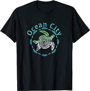 Ocean City T-Shirt Vintage Tribal Turtle Gift TShirt