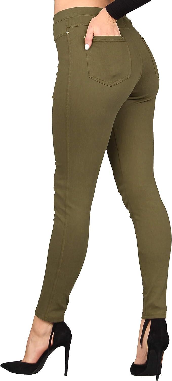 Leggings Donna B128 Jeggings Blu Tg S//L L//XL XL//XXL