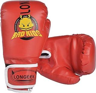Longeek Rękawice bokserskie, rękawice bokserskie, rękawice bokserskie, rękawice bokserskie i podkładki 10 ml Junior Cartoo...
