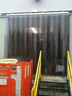 Vinyl 36 x 84 Strip Curtain Door GasketsandStripCurtains.com Strip Curtain Door Kit PVC Walk in Cooler Flap Door with Mounting Kit /& Instructions
