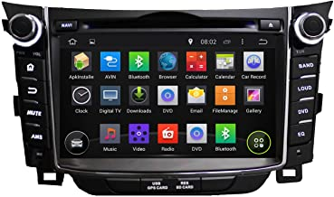 KUNFINE Android 8.0 Otca Core Car DVD GPS Navigation Multimedia Player Car Stereo for Hyundai I30 2011 2012 2013 2014 2015 2016 Steering Wheel Control 3G WiFi Bluetooth Free Map Update 7 Inch