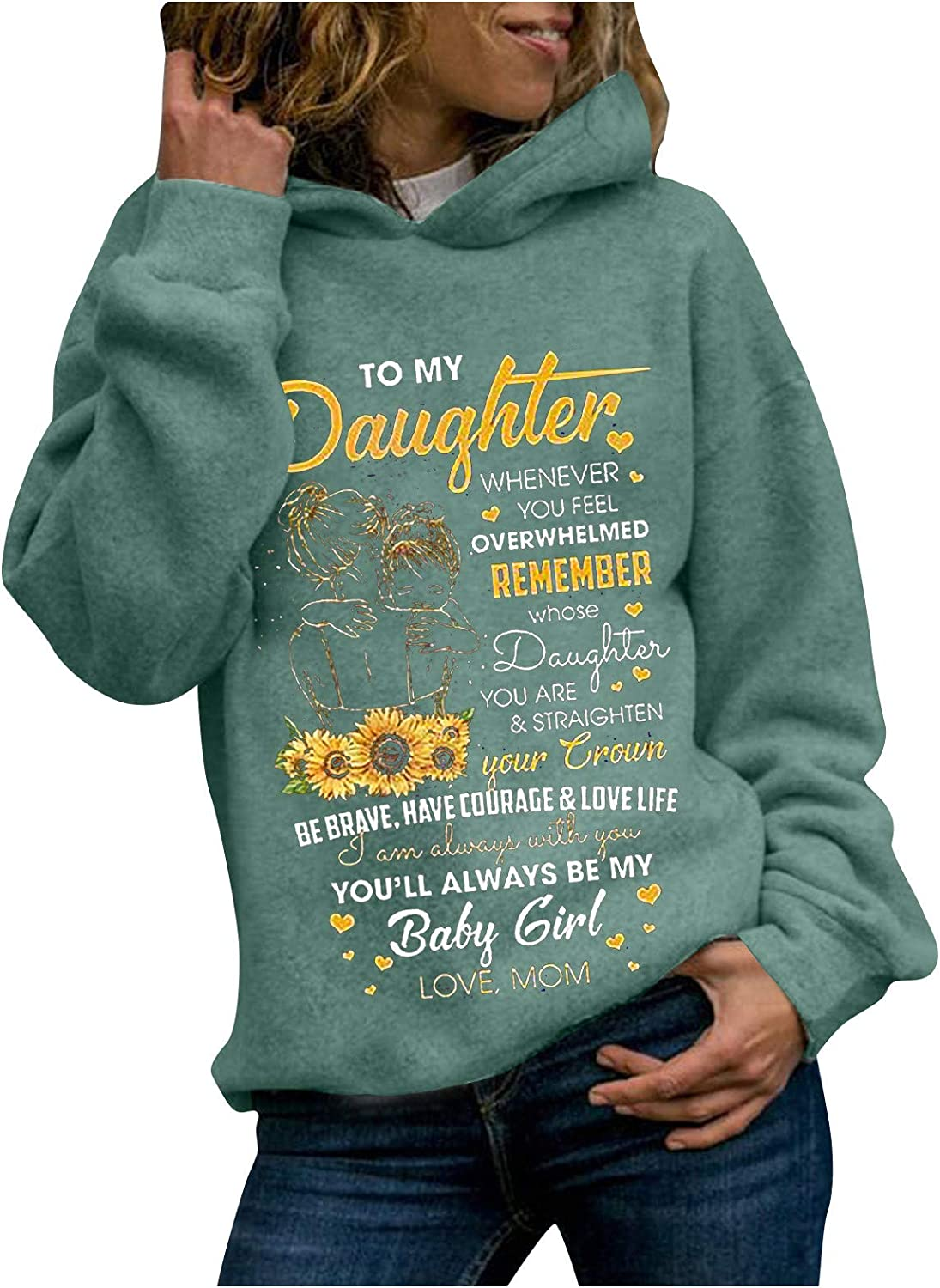 Thanksgiving Day Tops for Women Long Sleeve Hoodies Letters Printed Sweatshirt Teen Girls Comfy Pullover