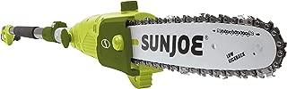 Sun Joe SWJ803E 10 inch 8.0 Amp Electric Multi-Angle Pole Chain Saw, Green