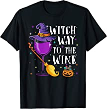 Witch Way To The Wine Funny Costume Gift For Witch Lover T-Shirt