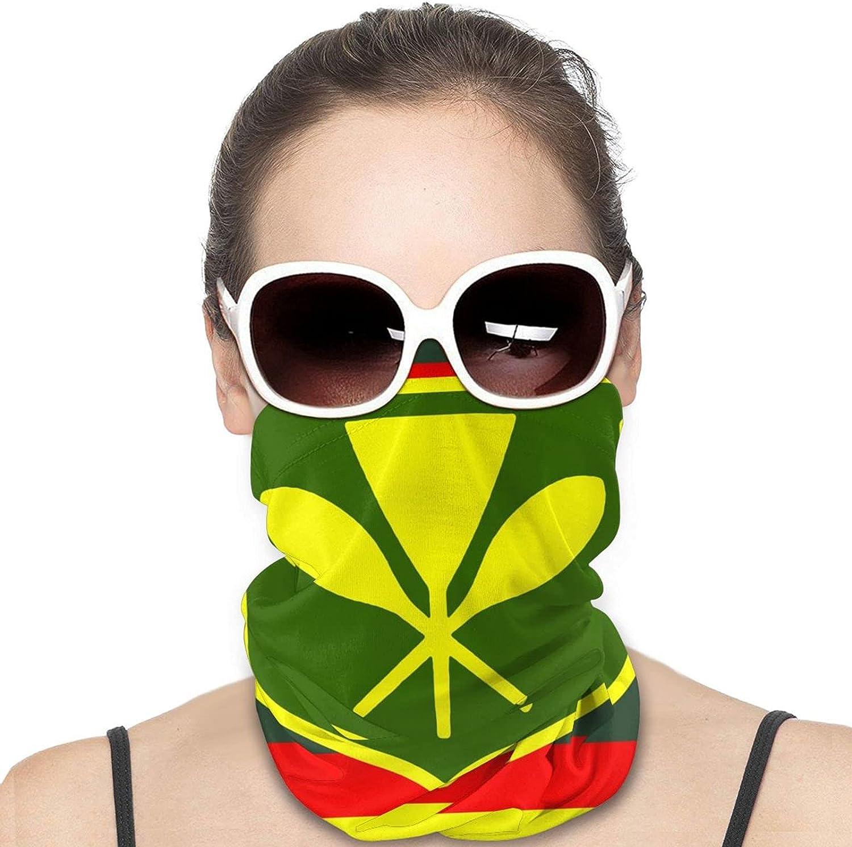 Hawaiian Flag Neck Gaiter Windproof Face Cover Balaclava Outdoors Magic Scarf Headband for Men Women Motorcycling Fishing Running Climbing
