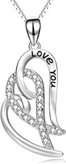 love you forever heart necklace