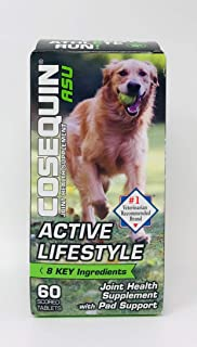 Cosequin ASU Active Lifestyle for Dogs, Joint Health Supplement with Pad Support (60 Tablets)