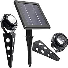 MITHOS Spotlight ツインソーラーキャストアルミ白熱LEDスポットライト、照明器具あたり60-100ルーメン