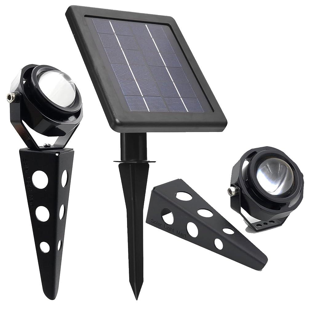 噴出する憂鬱なパースブラックボロウMITHOS Spotlight ツインソーラーキャストアルミ白熱LEDスポットライト、照明器具あたり60-100ルーメン