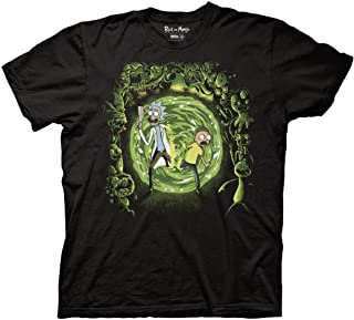 Ripple Junction Rick and Morty Adult Unisex Portal and The Monsters Light Weight 100% Cotton Crew T-Shirt