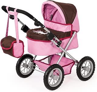 Bayer 39 - 68cm Dolls Pram Trendy Unicorn Design with Bag (Pink/ Brown) [Toy]