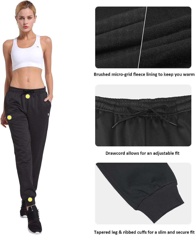 BALEAF Womens Fleece Jogger Pants Lounge Running Sweatpants with Pockets