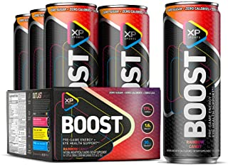 Energy Drink | XP Sports Boost | Pre-Game Energy, Alertness + Focus Amplifier, Eye Health Support | Pre Workout Energy Dri...