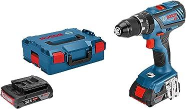 Bosch Professional 18V System GSB 18V-28 - Taladro percutor a batería (63 Nm, 1900 rpm, 2 baterías x 2,0 Ah, en L-BOXX)