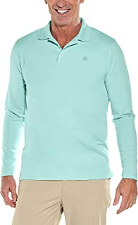 Coolibar UPF 50+ Men's Long Sleeve Weekend Polo Shirt - Sun Protective