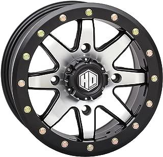 STI HD9 Beadlock Matte Black/Machined ATV Wheel 15x7 4/156 (5+2) [15HB903]
