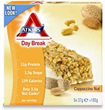 Atkins Cappuccino Nut bars 5x37g Pack of 6