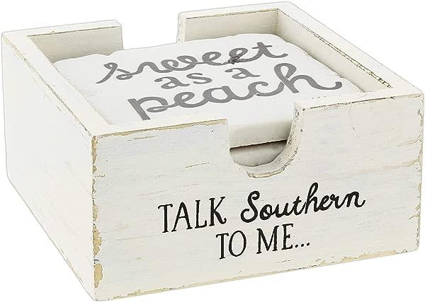 一套 4 个带支架的南方谈话杯垫