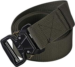 NCONCO Cinturón Militar Exterior de Nylon de Liberación Rápida Cinturón de Hebilla de Metal 1. 5 Pulgadas de Ancho