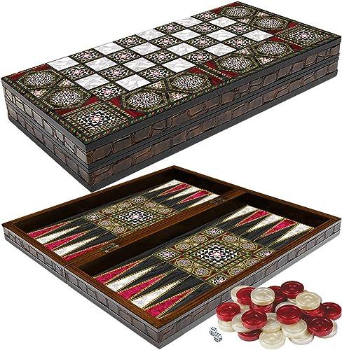 19 Yenugin XXL Syrian Style Backgammon Set by Yenigun