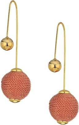 Rebecca Minkoff - Threaded Ball Hardwire Threader Earrings