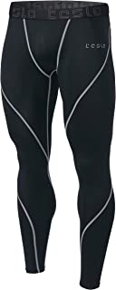 TSLA Men's Compression Pants Running Baselayer Cool Dry...