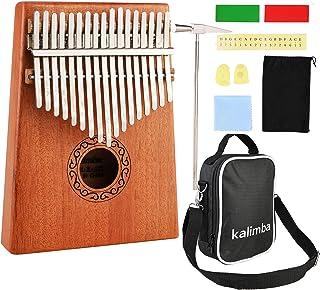 Nabance Kalimba 17 Clés Pouce Piano avec instructions d'étude, Tuning Hammer, Portable sac, bois Acajou, Haute Qualité pou...