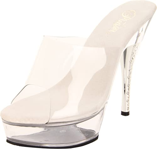 Pleaser Diamond-601 - Sexy Plateau Talon Hauts Chaussures Femmes Sandalettes 35-43, US-femmes EU-43   US-12   UK-9
