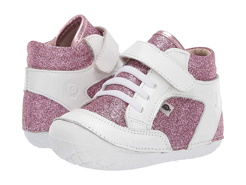 Old Soles Breezy Pave (Infant/Toddler) (Glam Pink/Snow) Girl