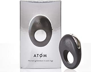 Hot Octopuss ATOM Pleasure Ring Vibrator - For Solo or Partner Therapeutic Massage; 100% Waterproof, Fast-Charge USB Adaptor