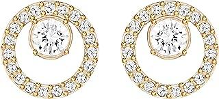 Swarovski Women's White Rose-gold tone plated Creativity Circle Pierced Earrings 5199827