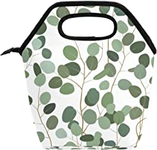 Przenośna torba na lunch box o dużej pojemności, do pracy w biurze, w szkole, na pikniku, na piknik, zielone liście