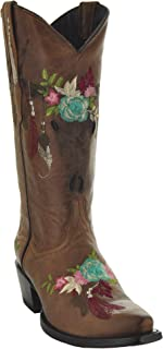 lane jeni lace embroidered cowgirl boots snip toe