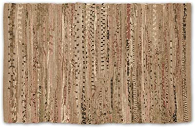 DII 100% Cotton Reversible Chindi Rag Rug for Kitchen, Livingroom, Entry Way, Laundry Room, and Bedroom 20 x 31.5-Inches, Taupe