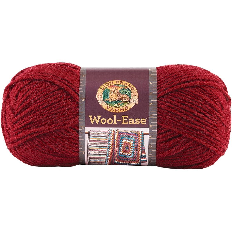 Lion Brand Yarn 620-138 Wool-Ease Yarn, Cranberry