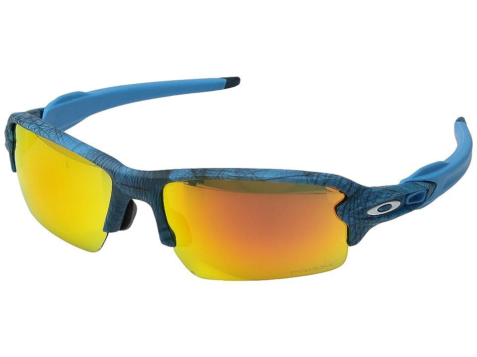 Oakley (A) Flak 2.0 (Aero Grid Grey w/ Prizm Ruby) Sport Sunglasses