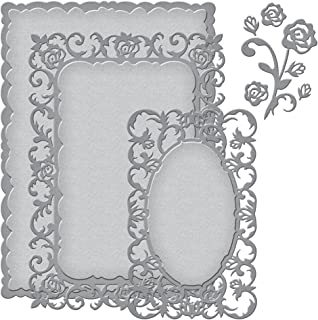 Spellbinders S5-230 Nestability Romantic Rose Etched/Wafer Thin Die