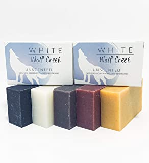 White Wolf Creek All Natural Handmade Organic Soap Bar, Cold Pressed All Natural Scented Bar Soap for Hands Face and Body,...