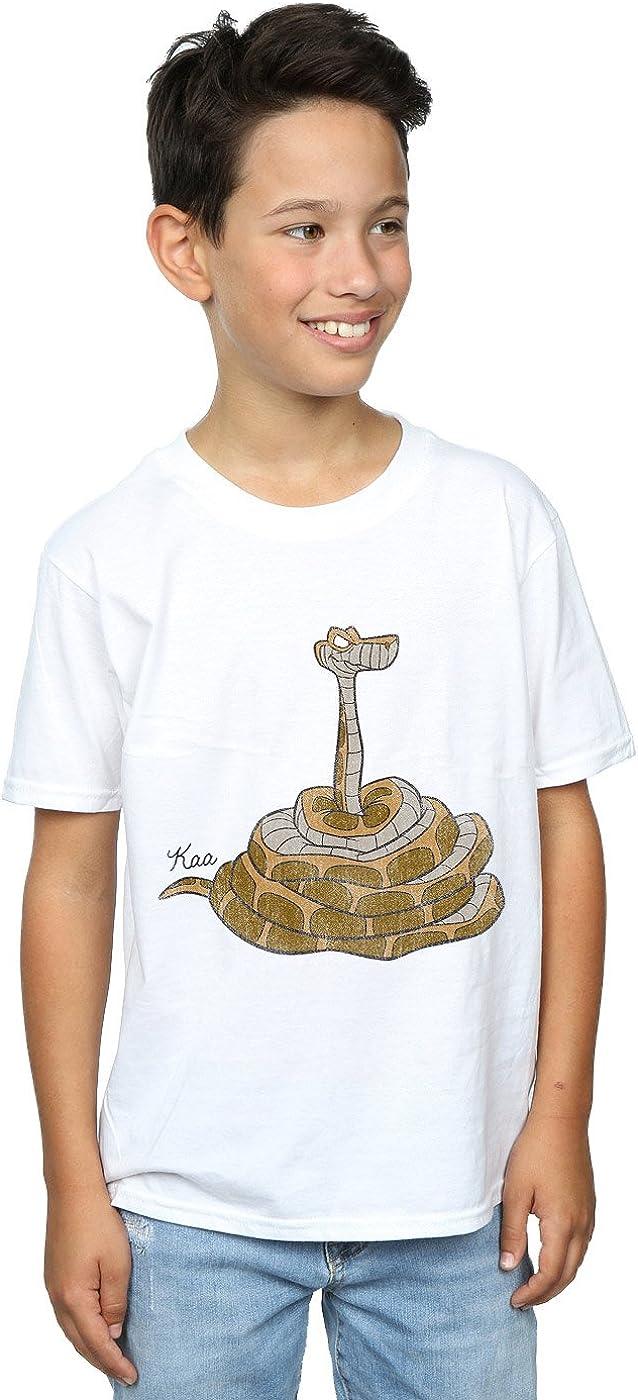 Disney Boys The Jungle Book Classic Kaa T-Shirt 12-13 Years White