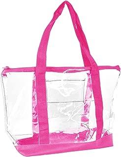 DALIX Clear Shopping Bag Security Work Tote Shoulder Bag Womens Handbag