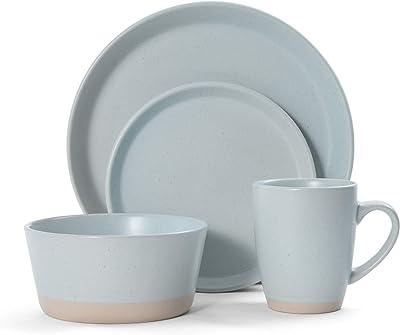 Pfaltzgraff Hudson 16-Piece Dinnerware Set, Blue