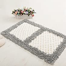 Household Textiles, Bathroom Non-Slip Absorbent Carpet dust White Blue and White pad 45 * 70cm (Color : Gray)