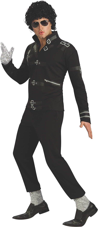 Rubie's Men's Ranking Philadelphia Mall TOP18 Michael Jackson Value Bad Buckle Costume Black Jac