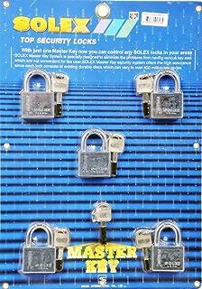 طقم مفتاح ماستر من 5 قطع من الكروم 40 ملم من سوليكس