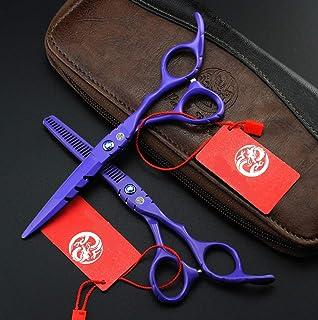 Hair Cutting Scissors Kit with Hair Thinning Shears Hair Professional - Razor Sharp Hair Cutting Shears Professional,5.5in...