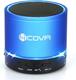 Bluetooth Speaker Wireless, Forcovr Mini Stereo Speakers Portable with HD Sound and Bass, Handsfree Call, AUX Input Jack for TV, Computer, Outdoor Small Speakers V4.2 for Travel&Hiking,Camping(Blue)
