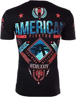 American Fighter Mens T-Shirt Lander Athletic Black RED Biker Gym MMA UFC