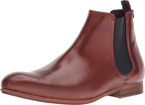 Ted Baker Men's WHRON Chelsea Stiefel, tan Leather, 9.5 Medium US