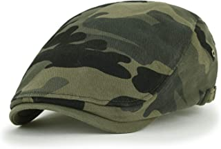 Camouflage Cotton Fitted Gatsby Newsboy Hat Cabbie Hunting Flat Cap