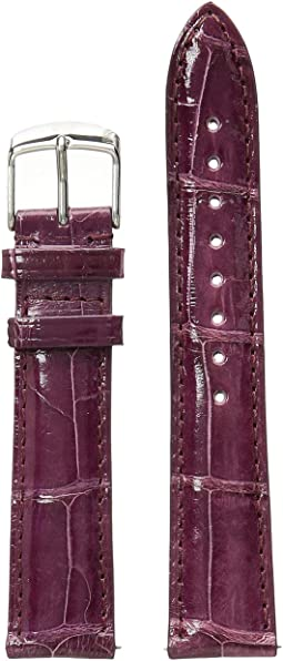 18 mm. Plum Alligator Strap